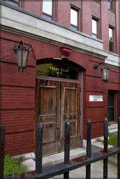on Third Street - courthouse building, Cambridge, MA Radium Girls, Third Street, Cambridge Ma, Scenic Design, Stairways, Massachusetts, Doors, Spaces, World