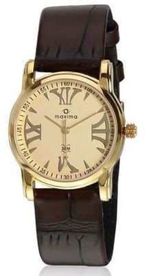Maxima Analog Gold Dial Women's Watches -M_28404LMLY