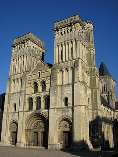 """L'Abbaye aux Dames or Abbey of Sainte-Trinité ~ Caen ~ Normandy ~  France ~   Founded in the late 11th century by William the Conqueror and his wife Matilda as the Abbaye aux Dames (""""Abbey of Women""""), together with Abbaye aux Hommes (""""Abbey of Men""""), now Church of Saint Etienne.  Built as penalty for their marriage against the Pope's ruling.  Matilda, who died in 1083, was buried here."""