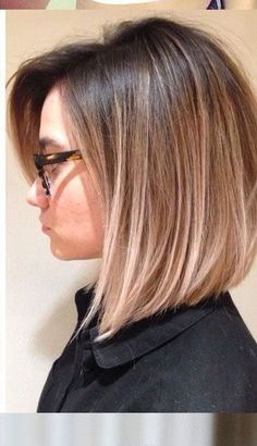 Bob frisur ideen 2018 – hair style for women Medium Hair Styles, Short Hair Styles, Hair Medium, Plait Styles, Hair Color And Cut, Great Hair, Balayage Hair, Straight Hairstyles, Easy Hairstyles