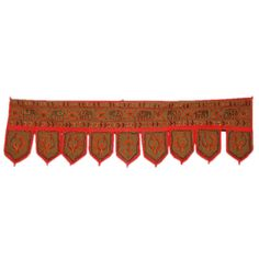 Fantastic Decorative Classic Peacock and Elephant Design Embroidered Door Hanging Product Code :Peacock Door Hangings83 Fantastic Decorative Classic Peacock & Elephant Design Embroidered Door Hanging, Bandhanwar, Toran (Size: 10 X 37 Inches)** * Size: 10 X 37 Inches *  $4.40