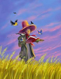reading scarecrow