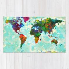 Theworldmaprugbymikekoubou 2800 kids rooms pinterest buy area throw rugs with design featuring abstract map of the world by gary grayson and adorn your home with both style and comfort gumiabroncs Choice Image
