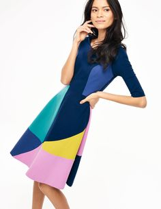 Alice Ponte Dress WH893 Day Dresses at Boden: love the style and colors