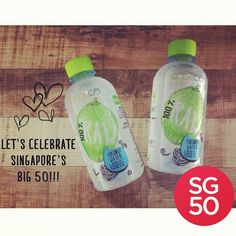 Happy 50th Birthday Singapore!  Woot Woot!  #SG50 #Singapore #HappyBirthdaySingapore #QOOLCO #coconutwater