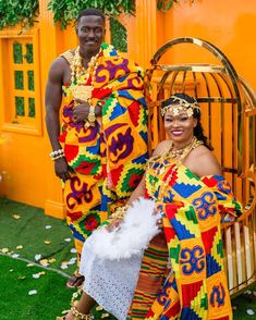 Kente Styles Slay For this year - Last Trendy African Lace Dresses, Latest African Fashion Dresses, African Print Fashion, Ghana Traditional Wedding, African Traditional Wedding Dress, African Wedding Attire, African Attire, African Wear, African Style