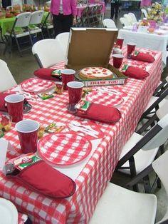 Pizza Party birthday theme