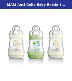 MAM Anti Colic Baby Bottle 160ml. MAM ANTI-COLIC 160ML BOTTLE - 3PK UNISEX Reduces colic by up to 80% thanks to the vented base which stops your baby swallowing any air during feeding Self-sterilises in the microwave;simply heat the bottle in the microwave with 20ml of water and in 3 minutes it's done We know that with this self-sterilising function means that there is no need to pack additional big sterilisers so parents can be ready for anything The included Slow Flow Teat allows for an...