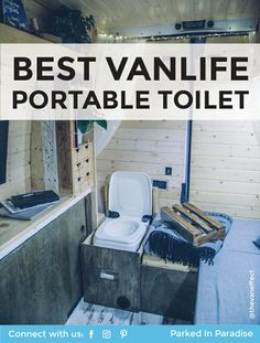 These portable toilets make for a very functional bathroom. I like how this keeps the campervan interior clean and smelling fresh. Great article on the different toilet options available for camping. via parkedinparadise