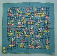TAMMIS KEEFE HANKIE Signed 22 RETRO SAILORS EAMES ERA w/2 labels in Clothing, Shoes & Accessories | eBay