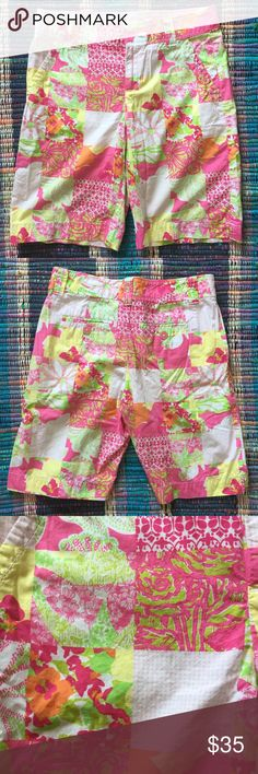 Lilly Pulitzer Bermuda Shorts size 2 Lilly Pulitzer Resort Fit Bermuda shorts. In like new excellent condition. Size 2. Lilly Pulitzer Shorts Bermudas