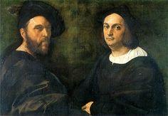 Raphael - Double Portrait of Andrea Navagero and Agostino Beazzano (1516); Galleria Doria Pamphilj, Roma