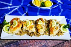 This baked cod recipe makes any white fish juicy and delicious. It makes the perfect meal when served with jasmine rice and asparagus or broccoli. Baked Cod Recipes, Fish Recipes, Seafood Recipes, Cooking Recipes, Salmon Recipes, Keto Recipes, Healthy Recipes, Seafood Dinner, Recipes