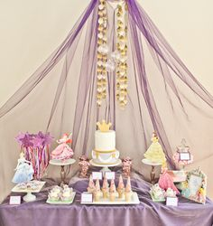 I like the way it is hanging.. With blue and silver or white or green instead/??  Princess Party #princess #party