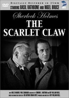 Basil Rathbone as Sherlock Holmes and Nigel Bruce as Dr. Watson. A series of
