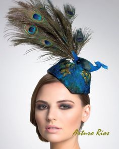 Peacock Fascinator-- Headpiece