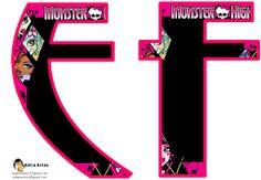 Oh my Alfabetos!: Alfabeto con caras de las Monster High.