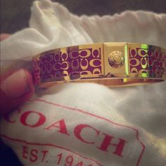 Authentic coach pink and gold bracelet This is a 100% authentic pink and gold coach bracket. Coach Jewelry Bracelets