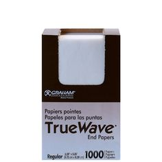 SP-56174 GRAHAM BEAUTY TRUE WAVE END PAPERS - REGULAR 1000 SHEETS  Exactly what you need to ensure the best result when rolling hair. Absorbent end papers with great wet strength.
