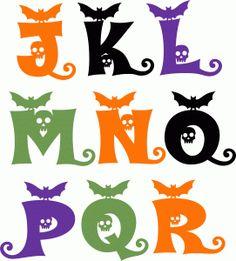 24 Best Halloween Alphabet Images In 2015 Alphabet