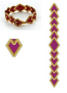 I really love this design Bead Crochet Patterns, Seed Bead Patterns, Beaded Bracelet Patterns, Jewelry Patterns, Beaded Earrings, Beading Patterns, Seed Bead Bracelets, Seed Bead Jewelry, Beaded Jewelry
