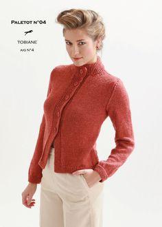 Modèle de tricot - Paletot femme - Catalogue Cheval Blanc n°21 - Laine utilisée : TOBIANE