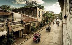 Scarica sfondi strada tranquilla, moto, città pasavign, filippine