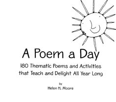 180 Thematic Poems and Activities for Kids ⋆ Download PDF Free