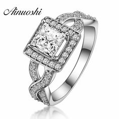 Fine Jewelry Trend Mark Ainuoshi Pure 925 Sterling Silver Blue Topaz Crown Ring 3ct Oval Cut Heart Ring Fine Engagement Ring Jewelry For Female Rings