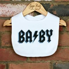 Rock BABY Bib Rocker Baby Funny Baby Clothes Unique Baby Best Picture For Baby Clothing temperature guide For Your Taste You are looking for something, and it is going to tell you exactly what you are Funny Baby Bibs, Funny Baby Clothes, Funny Babies, Rock Outfits, Kids Outfits, Rock N Roll Baby, Rock Baby Showers, Unique Baby Clothes, Baby Clothes Storage