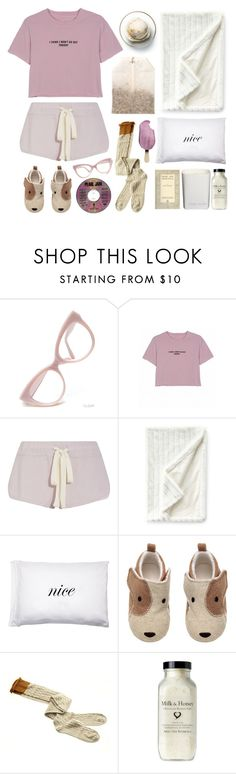 """""""Let's Stay Home"""" by pattykake ❤ liked on Polyvore featuring Disney, Eberjey, Sweet Dreams, Kiki de Montparnasse, Kenneth Cole Reaction and Ex Voto Paris"""