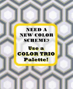 HGTV star Sabrina Soto shares her easy design tricks to choose the perfect colors for a room: Color Trio Palette !