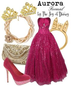 Formal outfit inspired by Aurora from Sleeping Beauty. This dress is just gorgeous, I would love to wear something like this to Prom or Homecoming!