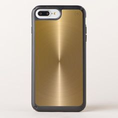 Slick Faux Gold Metallic Stainless Steel Look Speck iPhone Case - monogram gifts unique custom diy personalize