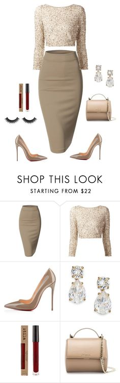 """Nude"" by owl00 ❤ liked on Polyvore featuring Doublju, Alice + Olivia, Kate Spade and Givenchy"