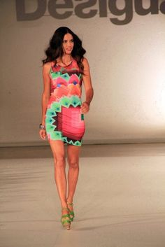 Adriana Lima 080 Barcelona Fashion Week 2013 – Desigual Like the mix of colors!