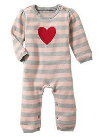 Intarsia heart one-piece..adorable