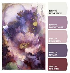 Paint colors from Chip It! by Sherwin-Williams. Artist -Yuko Nagayama. ChipCard by Reni Apostolova.