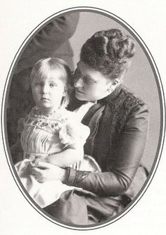 Princess Beatrice of Battenberg, nee Princess of Great Britain, with her only daughter, Princess Victoria Eugenie, nicknamed Ena.  Like her mother, Ena was a carrier of hemophilia.  Ena became Queen of Spain and is the grandmother of Juan Carlos, current king of Spain.