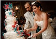 Wedding Cake Topper Pinwheels Custom Made by weddingbridaldesigns, $24.99