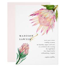 King Protea Pink Floral Wedding