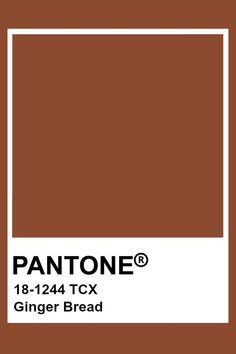 Pantone Ginger Bread