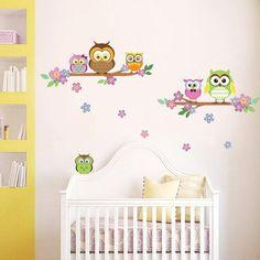 Owl Flower Tree Seinätarra AllPosters.fi-sivustossa