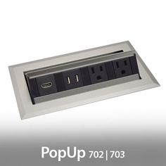 Marina AV HDMI Power Data Trough For Collaborative Conference Tables - Conference table av box