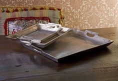 IMAX Lindi Aluminum Trays - Set of 3