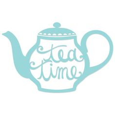 Silhouette Design Store: tea time teapot
