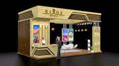 Rixos Hotels ( Concept Exhibition Stall Design ) on Behance Exhibition Stall Design, Exhibition Stands, Glass Wardrobe, Expo Stand, Hotel Concept, Ikea Cabinets, Small Buildings, 3d Max, Stand Design