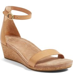 ugg emilia wedge sandal ($120). Ankle Strap Wedges, Wedge Sandals, Wedge Shoes, Uggs With Bows, Ugg Snow Boots, Ugg Classic Tall, Fashion Boots, Fashion Clothes, Me Too Shoes
