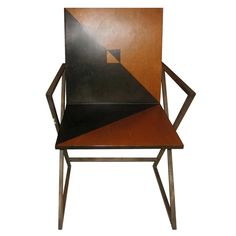 Art Deco Designer Wooden Chair    C 1930's  Great designer Art Deco single chair with a geometric design