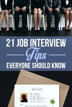 21 Job Interview Tips Everyone Should Know. This will give me tips on what I could do to make an interview go better and have a better chance at getting a job. Job Interview Questions, Job Interview Tips, Job Interviews, Job Interview Makeup, Marketing, Coaching, Job Info, Job Help, Job Search Tips